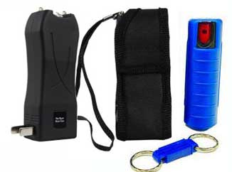 Runt 20 Million Volt Mini Rechargeable Stun Gun w/Pepper Spray Combo