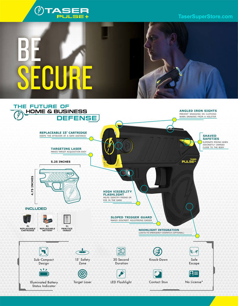 TASER Pulse+ Specifications