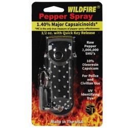 Wildfire 1.4% MC 1/2 Oz with Rhinestone Leatherette Holster and Quick Release Keychain
