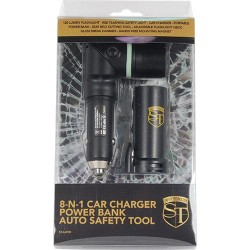 8-N-1 Car Charger Power Bank Auto Safety Tool