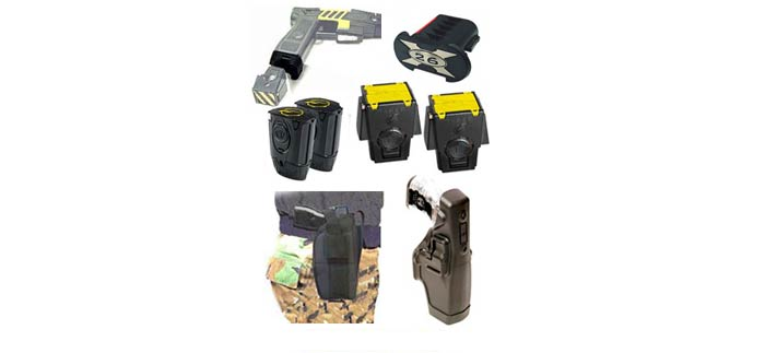 Taser Holsters, Cartridges, Batteries