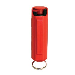 Pepper Shot 1.2% MC 1/2 Oz Pepper Spray Hard Case Belt Clip and Quick Release Keychain