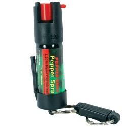 Pepper Shot 1.2% MC 1/2 Oz Pepper Spray Belt Clip and Quick Release Keychain