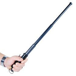 Automatic Expandable 20.5 Inch Steel Baton Black Handle