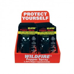 Wildfire Display 12 1/2 Oz Leatherette Black