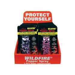 Wildfire?12 Fashion 1/2 Oz Leatherette Pepper Spray with Counter Display